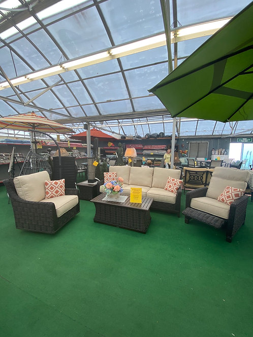 5 Pc Wicker Seating Group