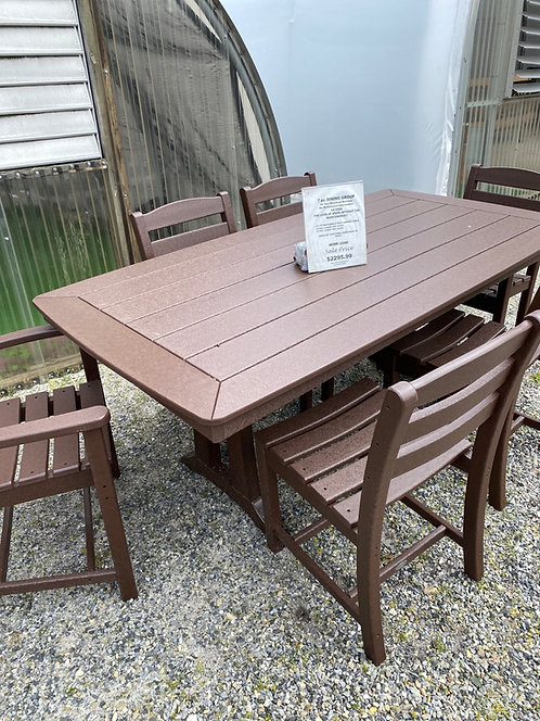 """73"""" Rectangular Dining Table with 2 Arm Chairs/4 Armless Chairs"""