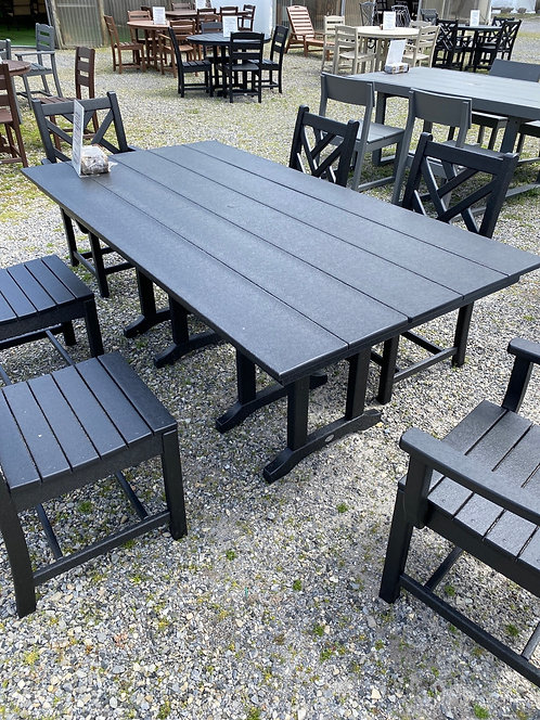 """72"""" Rectangular Table with 4 Side Chairs & 2 Arm Chairs"""