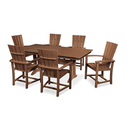 Quattro 7-Piece Farmhouse Dining Set