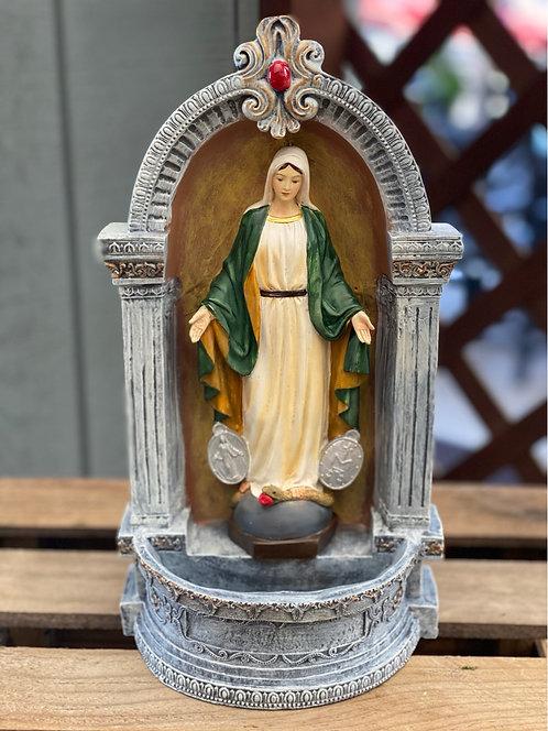 Virgin Mary Resin Statue