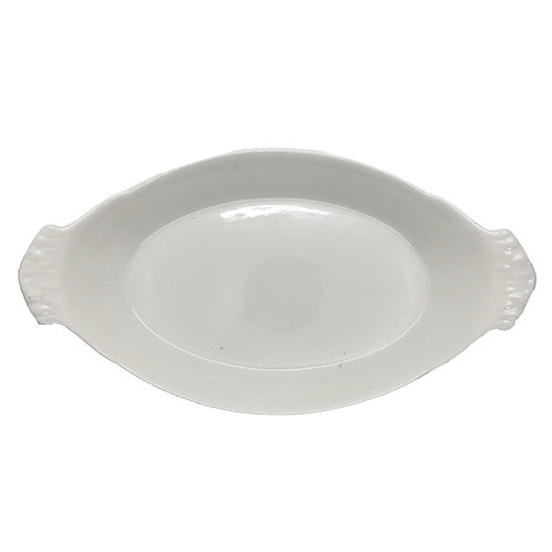 "12.5"" Oval Eared Veg / Serving Dish"