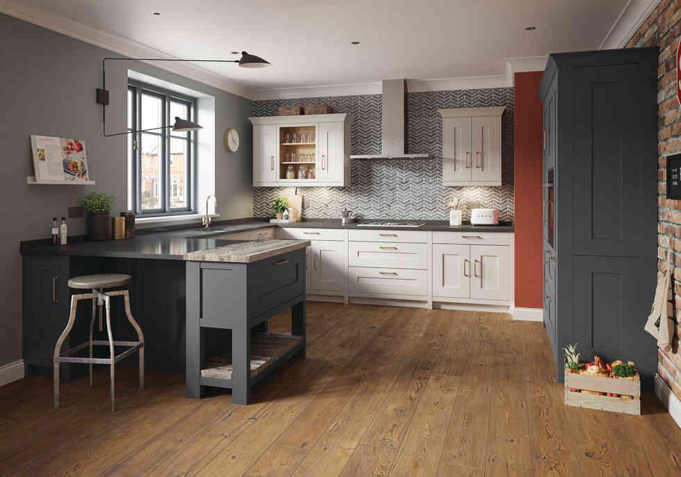Fitzroy kitchen Dove Grey & Graphite