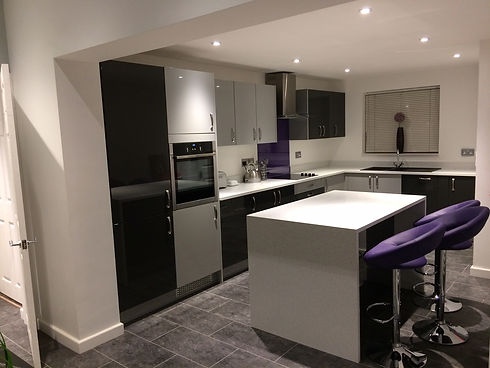 Black and white modern customer kitchen