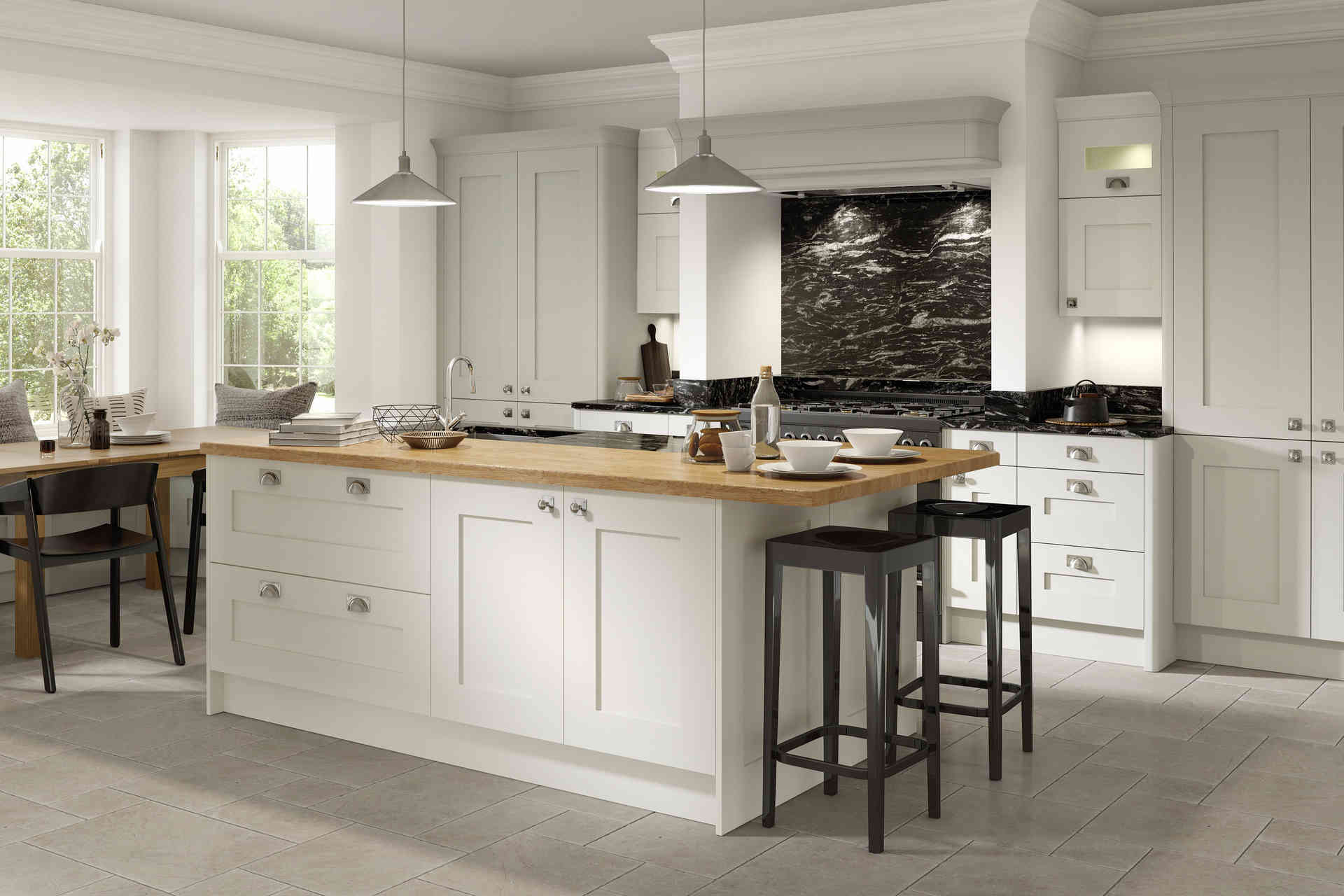Fitzroy kitchen Porcelain & Partridge Grey