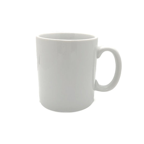 White Handled Mug