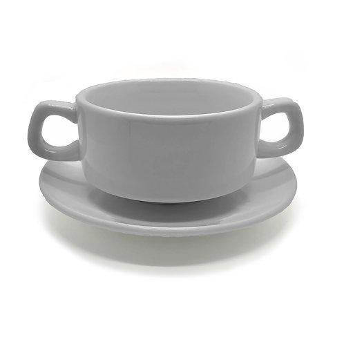 Stacking Soup Bowl + Saucer
