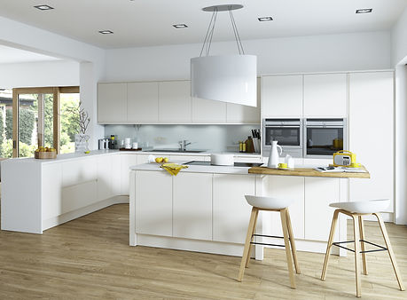 Aconbury Matt finish modern handleless kitchen