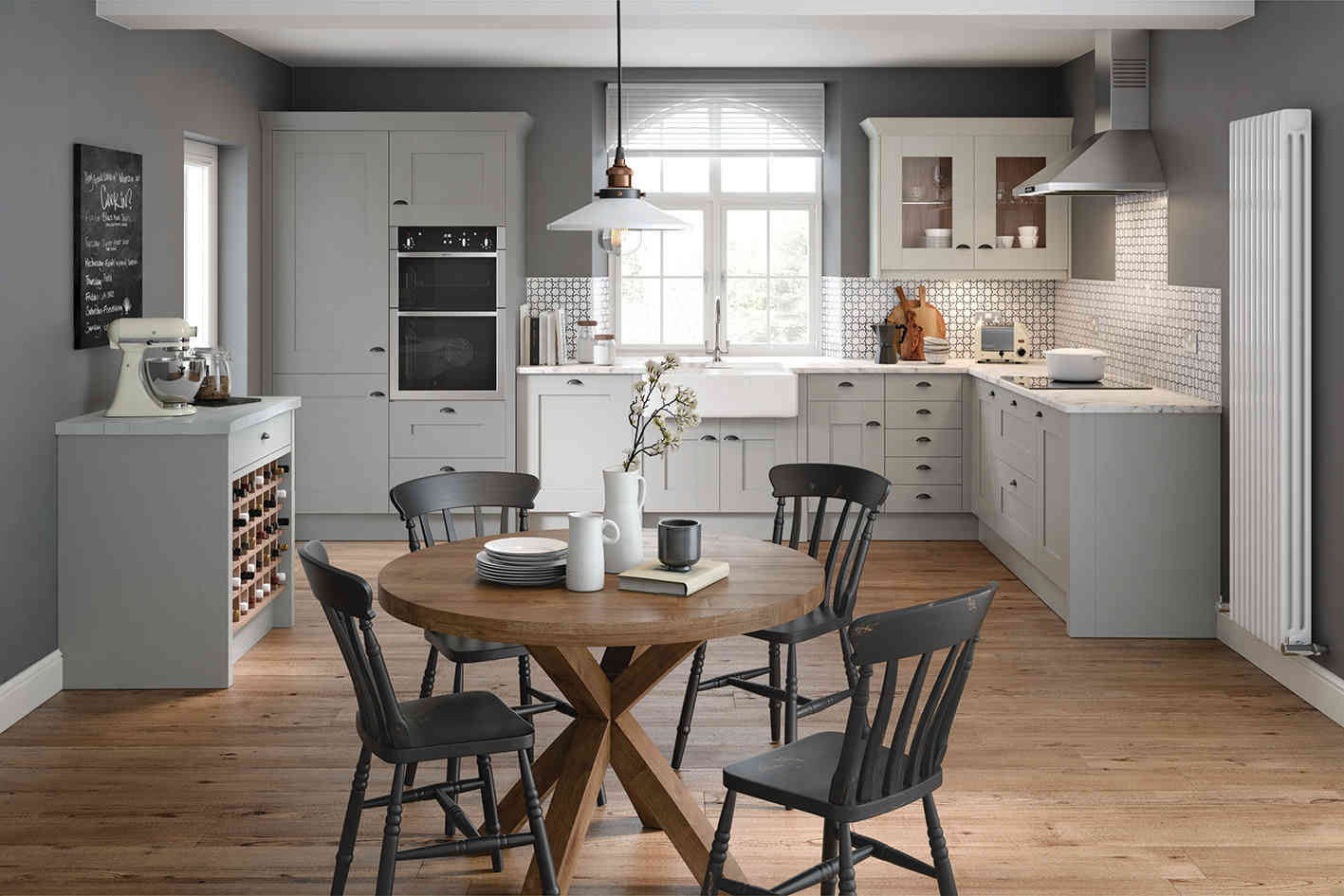Milbourne kitchen Silver Grey