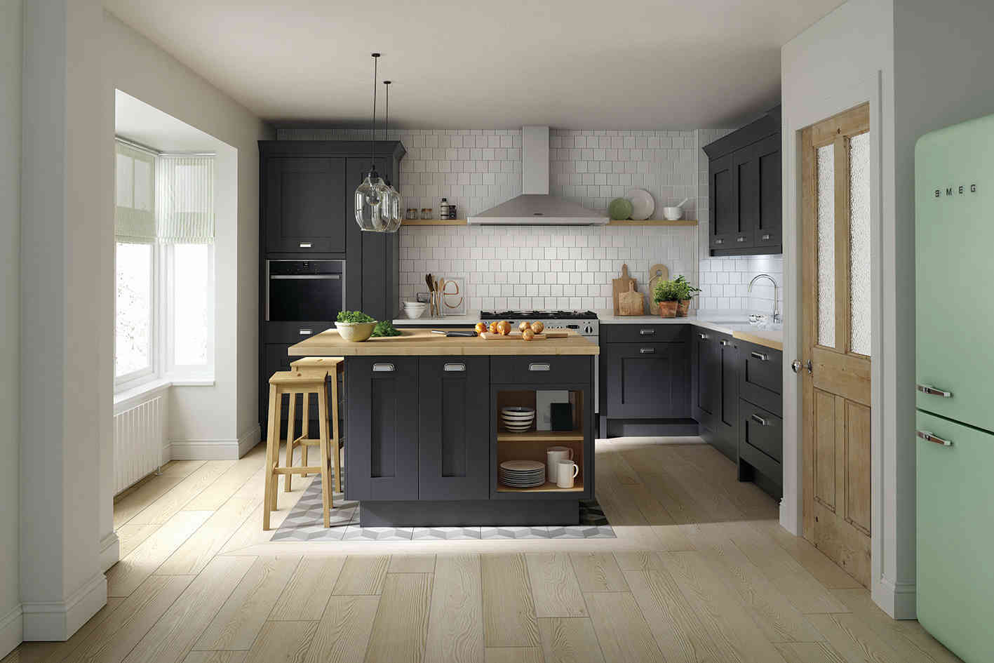 Milbourne kitchen Charcoal