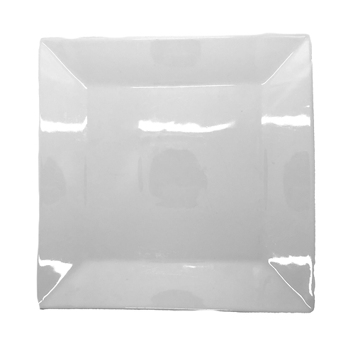 """10"""" Rimmed Square Plate"""