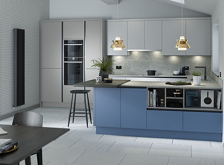 Porter Silver Grey Matt, Slate Matt kitchen