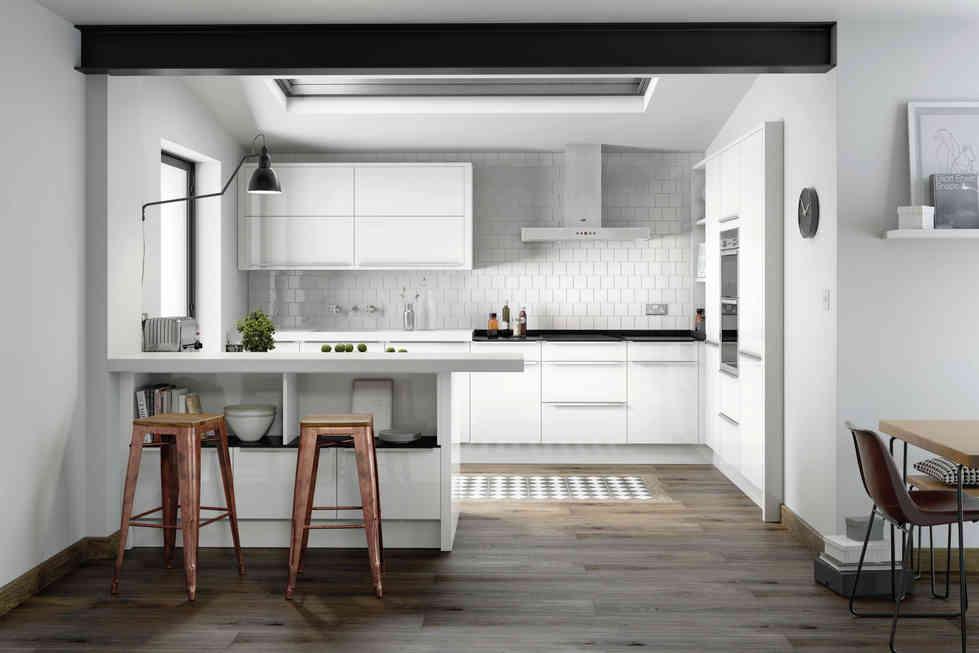 Porter kitchen White Gloss