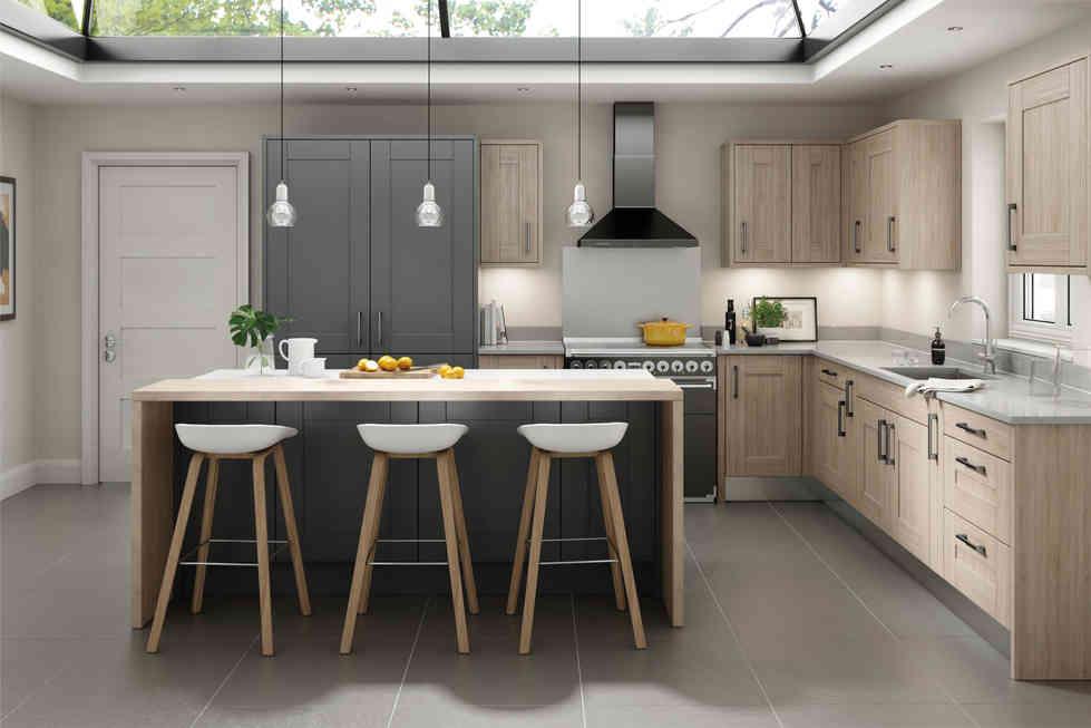 Broadoak kitchen Rye & Charcoal