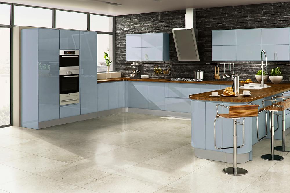 Welford Sky Blue Kitchen