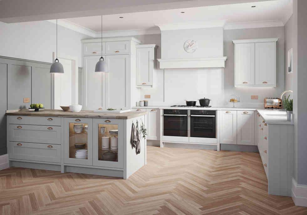 Mornington Beaded kitchen Dove Grey
