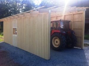 Nytt garage till traktorn