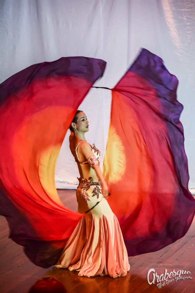 Veil Poi Dance Performance