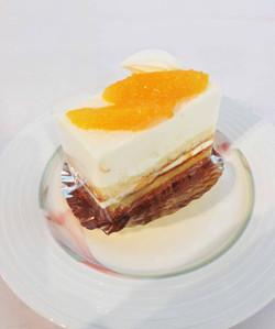 オレンジのレアチーズ