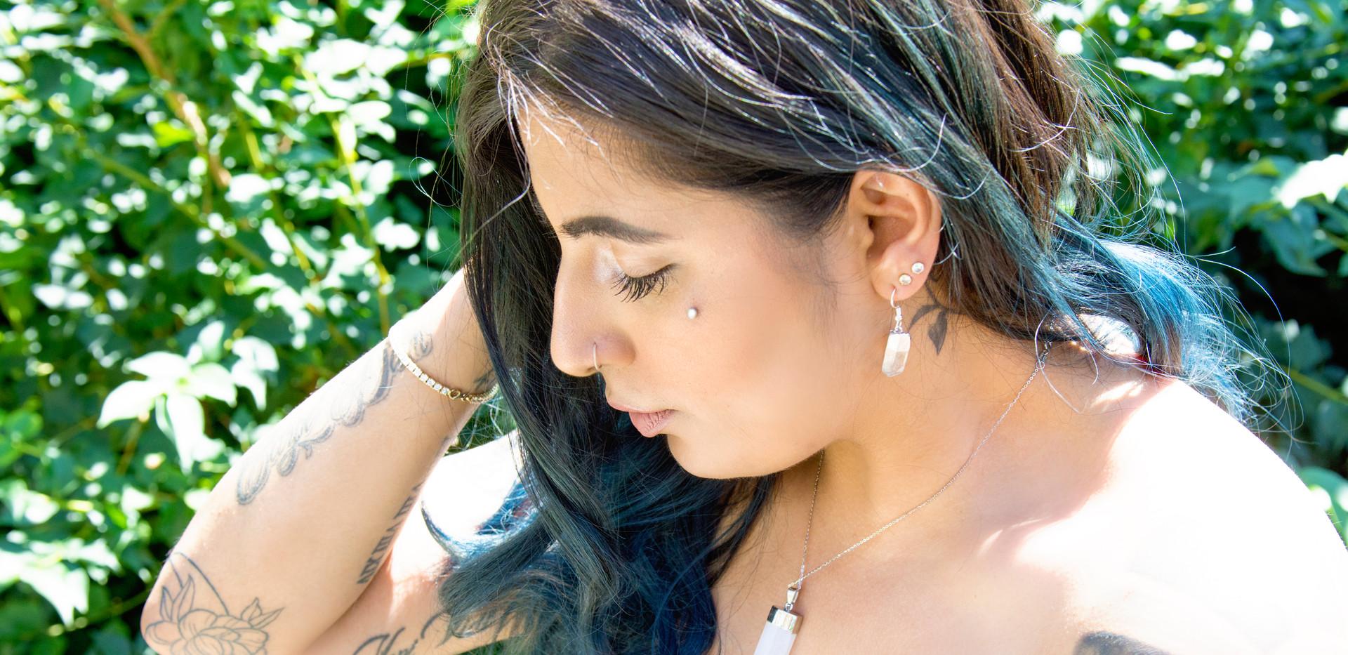 Clear Quartz Sterling Silver Earrings