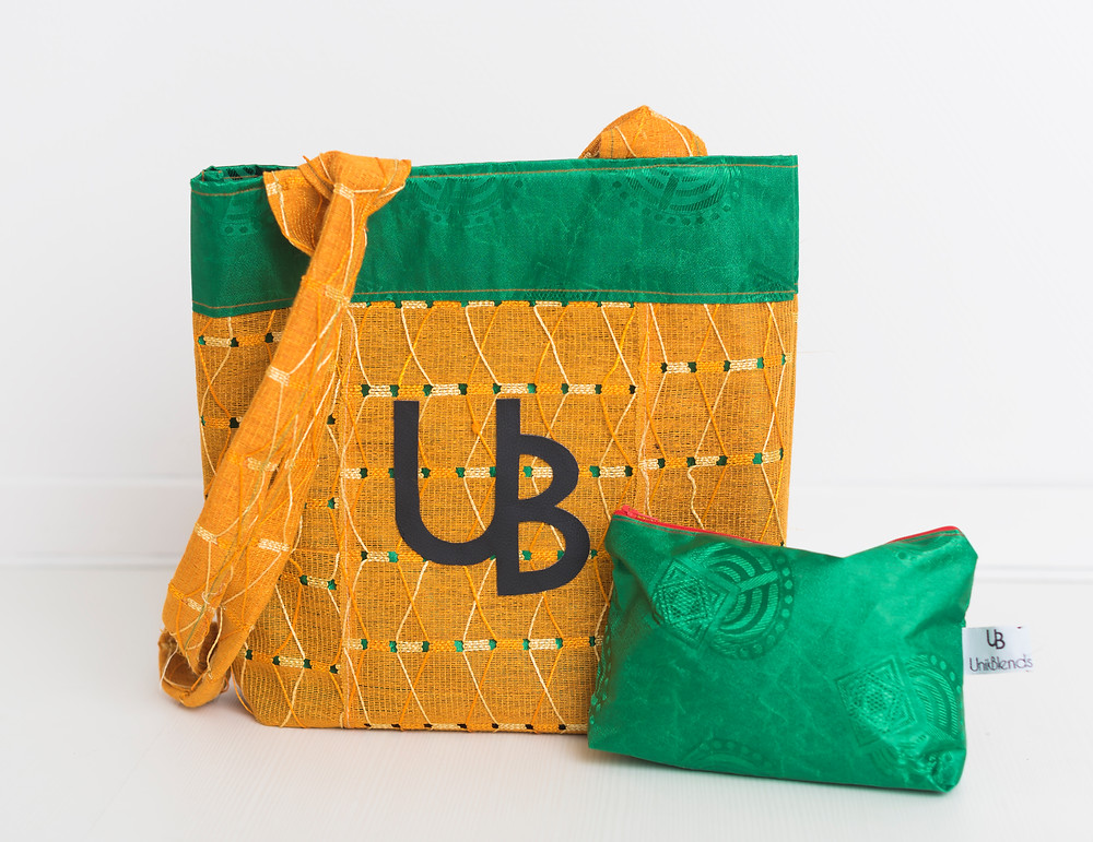 Handmade from repurposed African fabrics: Gele & AsoOke