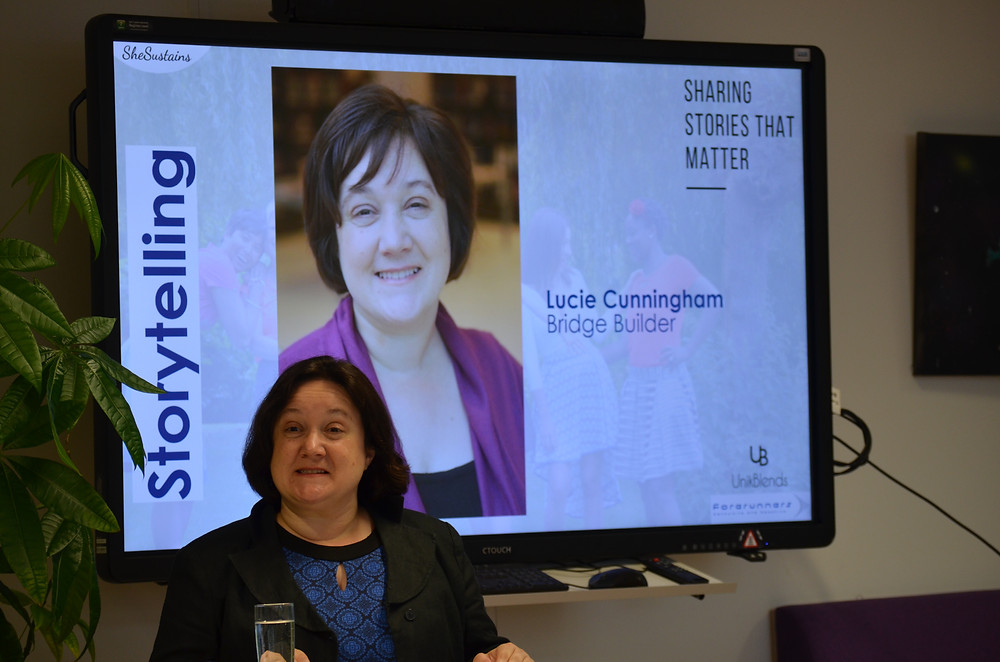 Lucie sharing her story