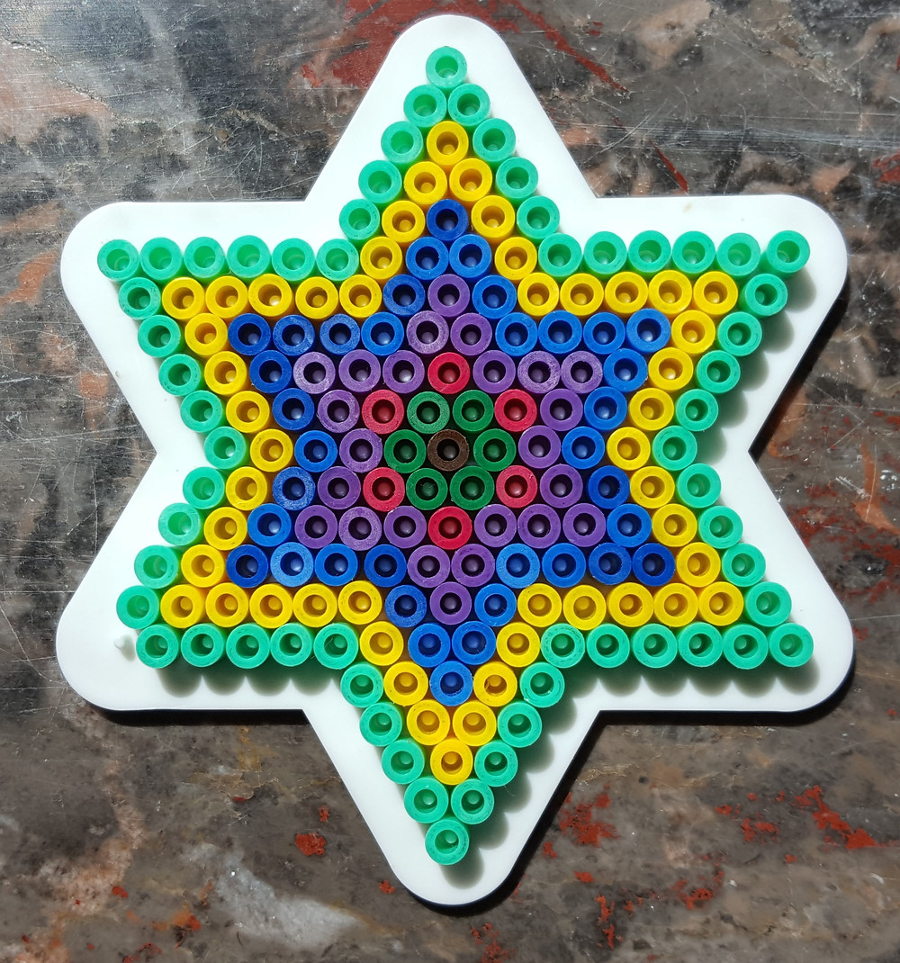 Created by my son from ordinary plastic beads!