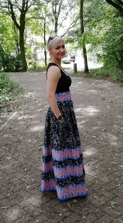 Self Designed and Tailored Skirt with TabiWax Fabric