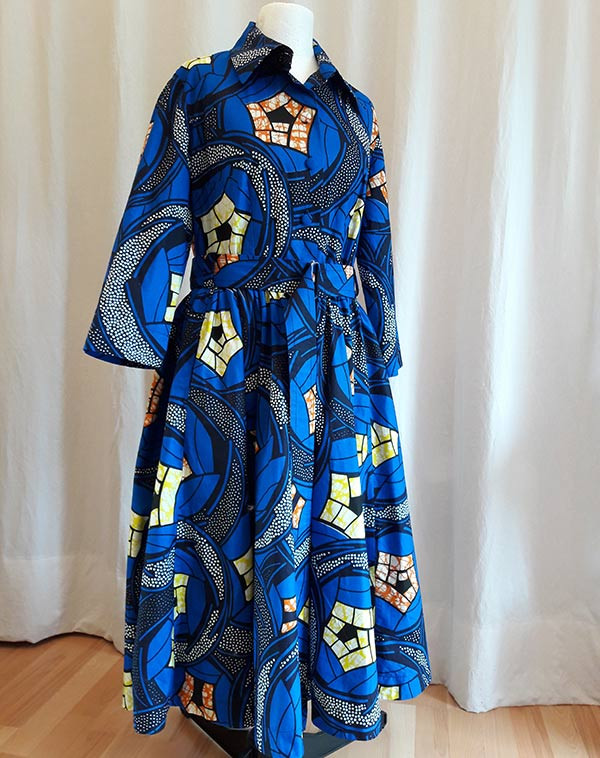 A beautiful dress from Sonia's couture made from African fabric