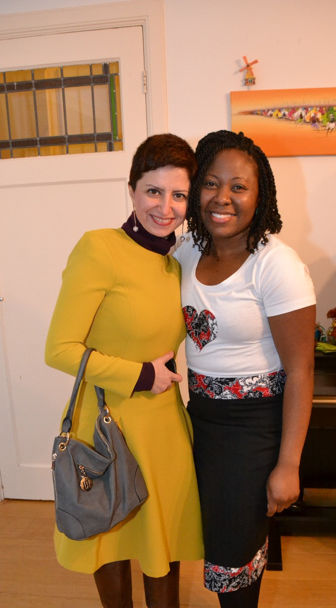 Fariba and I at my Birthday Party and Love T-shirt Launch!
