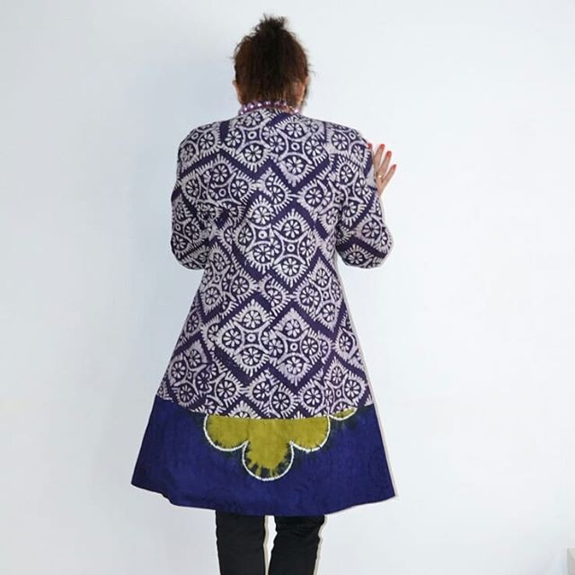 A Long UnikBlazer tailored made from African Batik Fabric by Karolina