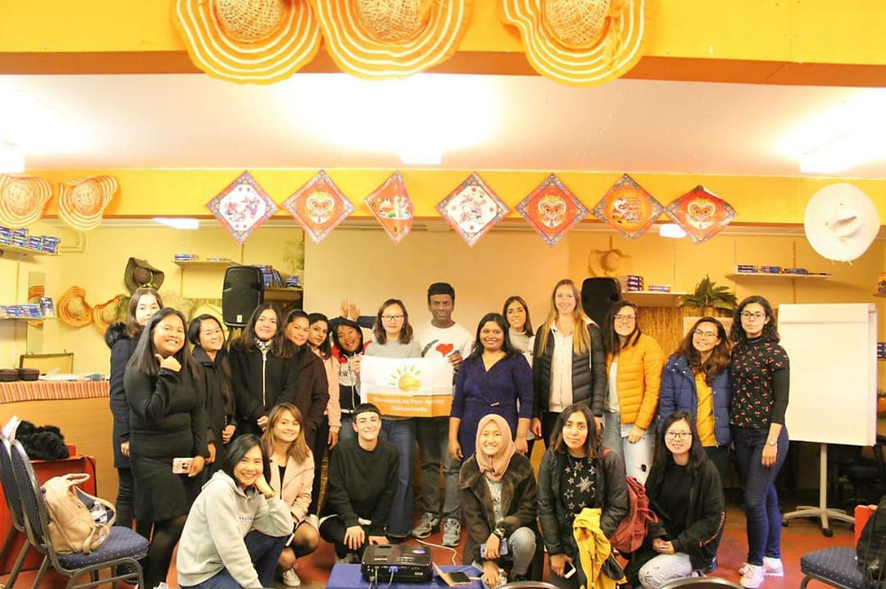 Veena and Lucy Lu with participants (Au pairs) of on boarding program