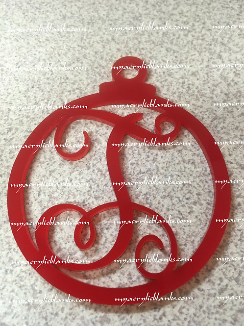RED ACRYLIC CHRISTMAS ORNAMENT  T