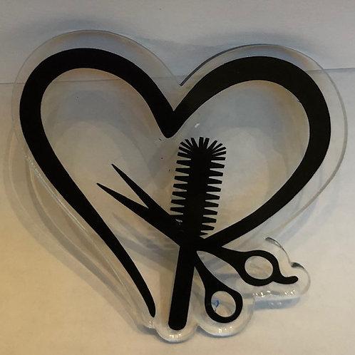 HAIRDRESSER HEART KEYCHAIN BLANK