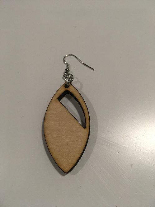 Oval Half Earrings