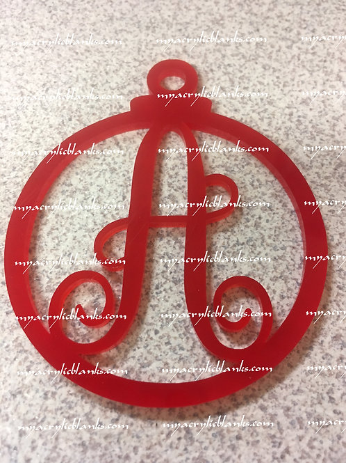 RED ACRYLIC CHRISTMAS ORNAMENT  A