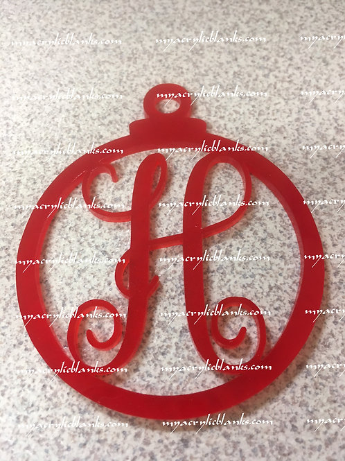 RED ACRYLIC CHRISTMAS ORNAMENT  H