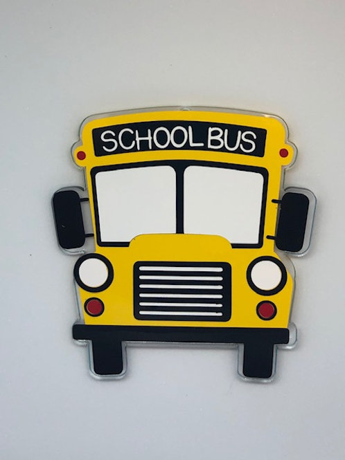 SCHOOL BUS FRONT VIEW KEY CHAIN BLANK