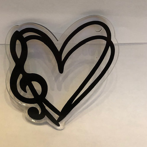 MUSIC HEART KEYCHAIN BLANK