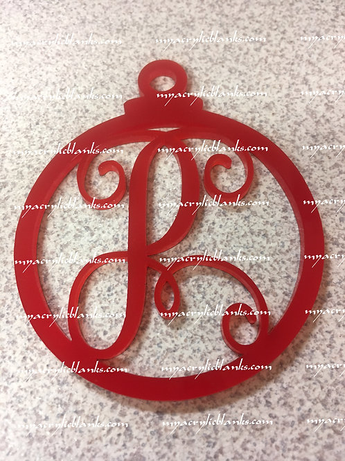RED ACRYLIC CHRISTMAS ORNAMENT  P