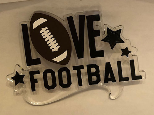 LOVE FOOTBALL WORDS KEYCHAIN BLANK