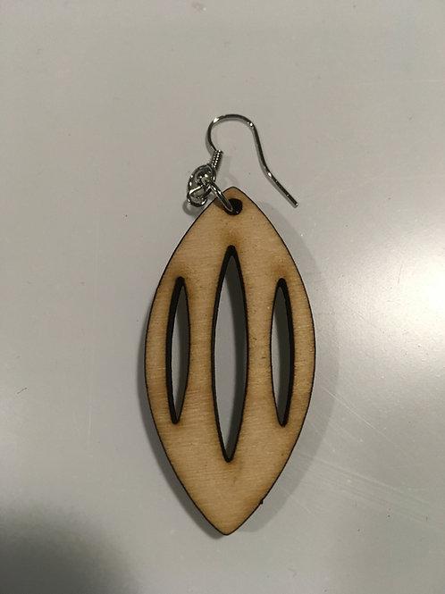 Oval Oblong Earrings