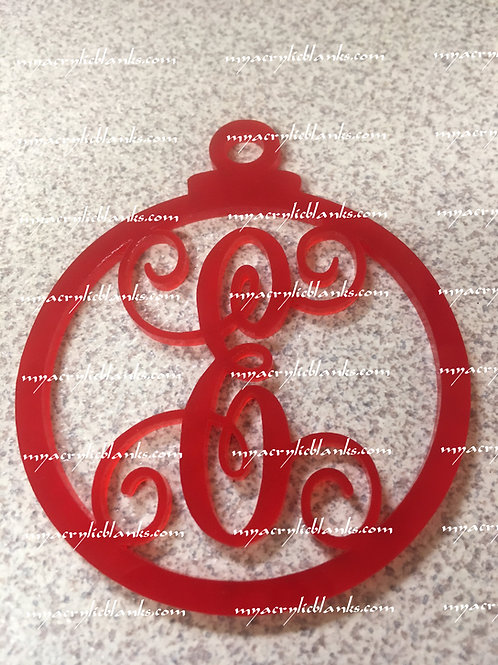 RED ACRYLIC CHRISTMAS ORNAMENT  E
