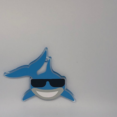 SUNGLASSES SHARK KEY CHAIN BLANK