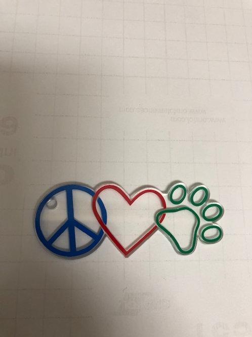 PEACE LOVE PAW KEYCHAIN BLANK