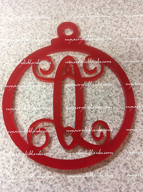 RED ACRYLIC CHRISTMAS ORNAMENT  Q