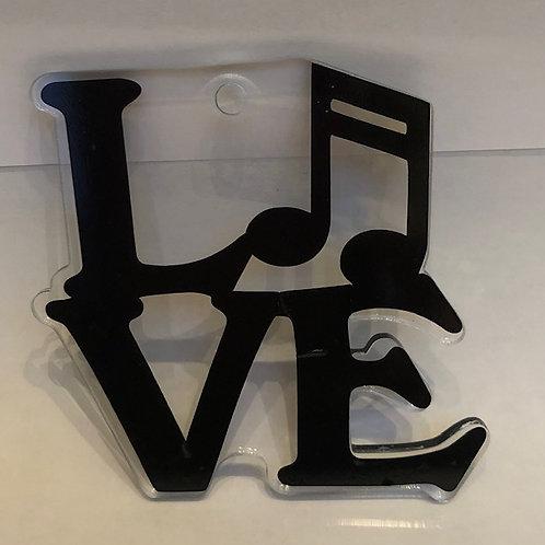 LOVE MUSIC KEYCHAIN BLANK