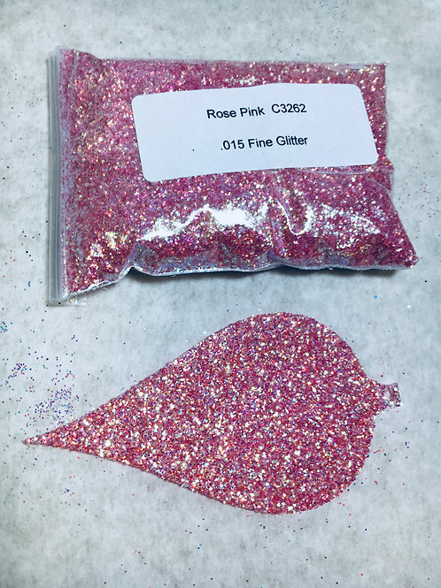 C-3262 IRIDESCENT ROSE PINK GLITTER
