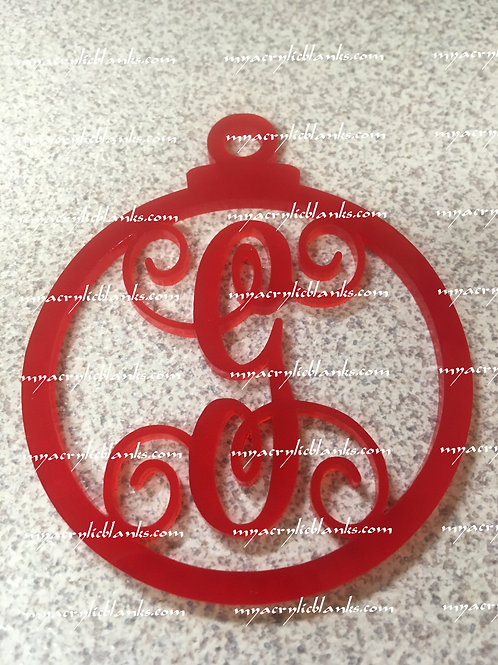 RED ACRYLIC CHRISTMAS ORNAMENT  G