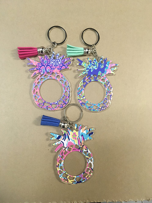 PREFINISHED PINEAPPLE KEYCHAIN BLANKS